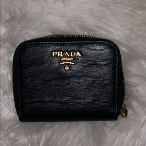 Saffiano leather PRADA card holder.